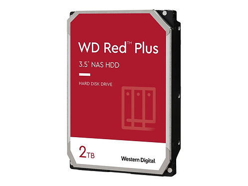 WD Red Plus 2TB SATA 6Gb/s 3.5inch 64MB cache IntelliPower Internal 24x7 optimiz