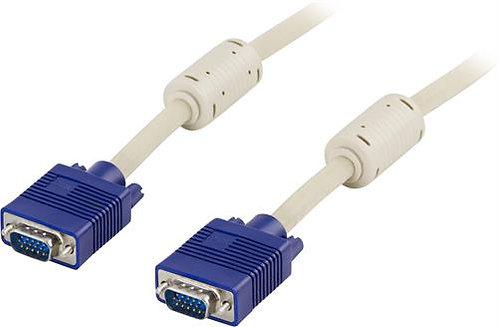 Monitorkabel RGB HD15ha-15ha 2 m DelTaco