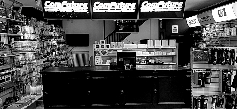 Butiken på Storgatan 20. ComFuture.