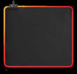 DELTACO GAMING RGB Mousepad, 45x40cm, 6xRGB-lägen, 7xStatiska-lägen, svart