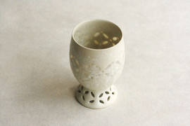蛍手結晶釉高台酒杯#1