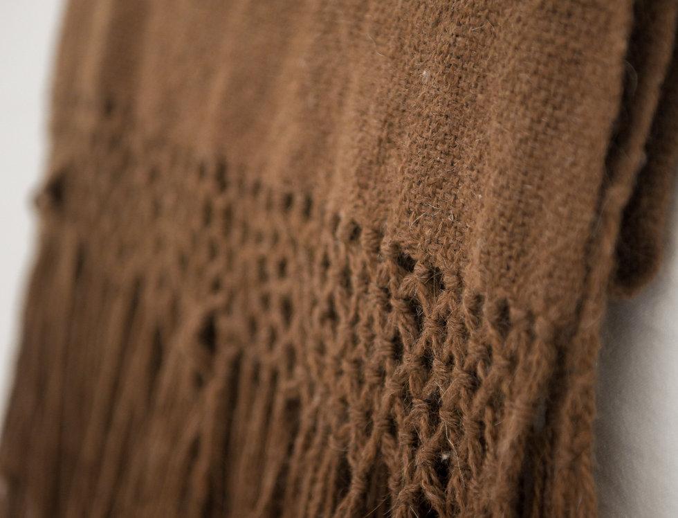 Pie de cama lana de llama (chocolate)