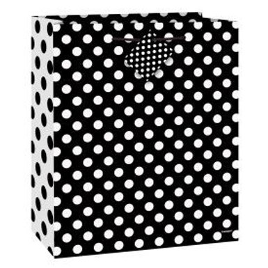 Bag Gift Medium Dots Black