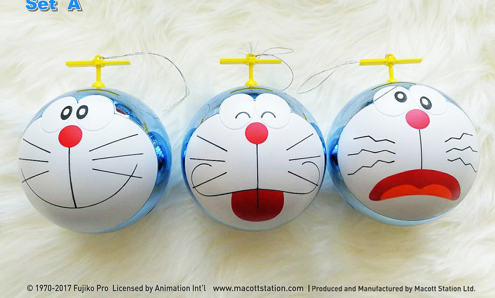 Doraemon Christmas Bauble (Set A)