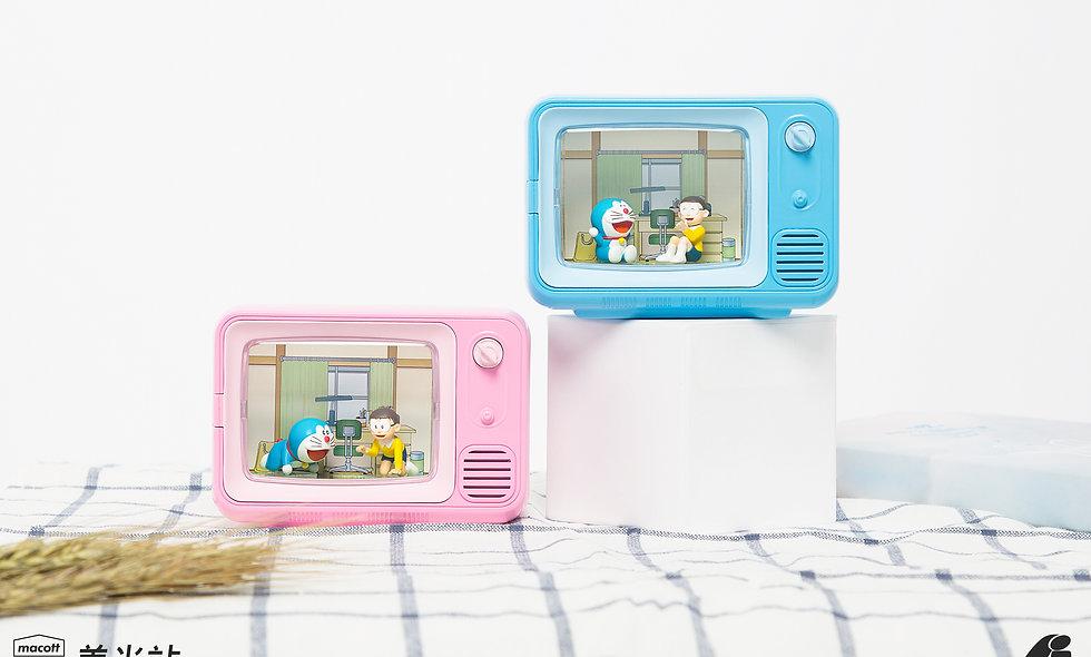 哆啦A夢TV微景盒-粉色