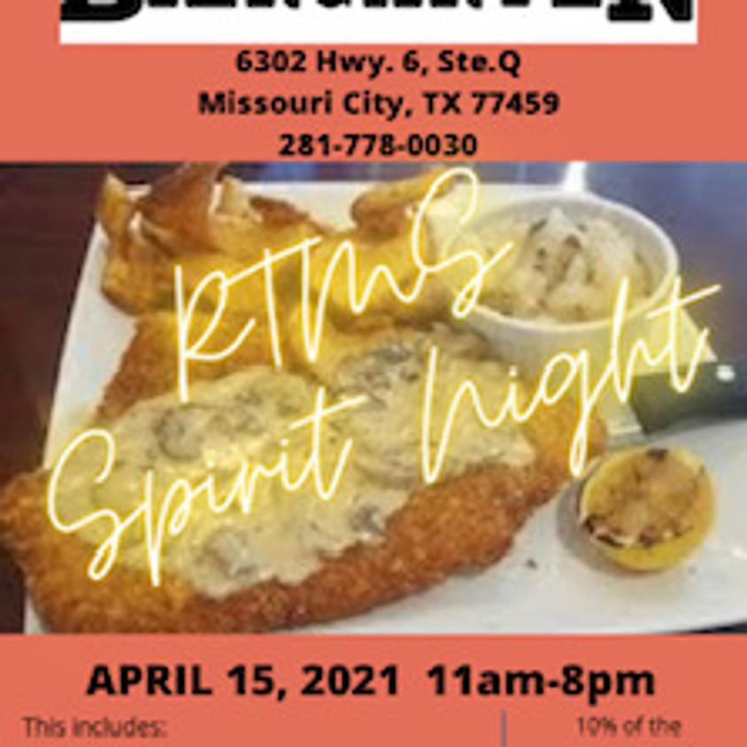 Texas Biergarten Spirit Night (ALL DAY)