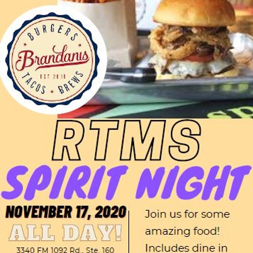 Brandani's Spirit Night - ALL DAY!!