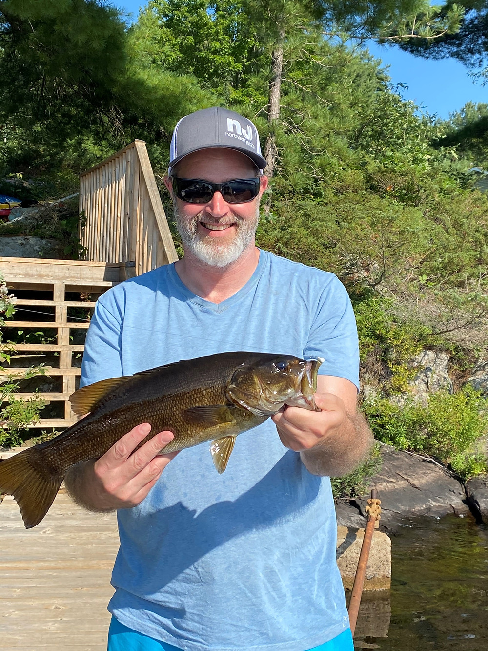 Nice bass caught in the Muskoka Region of Ontario, Canada
