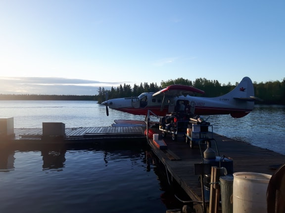 turbine otter on a fly in fishing trip in Northern Ontario, Canada