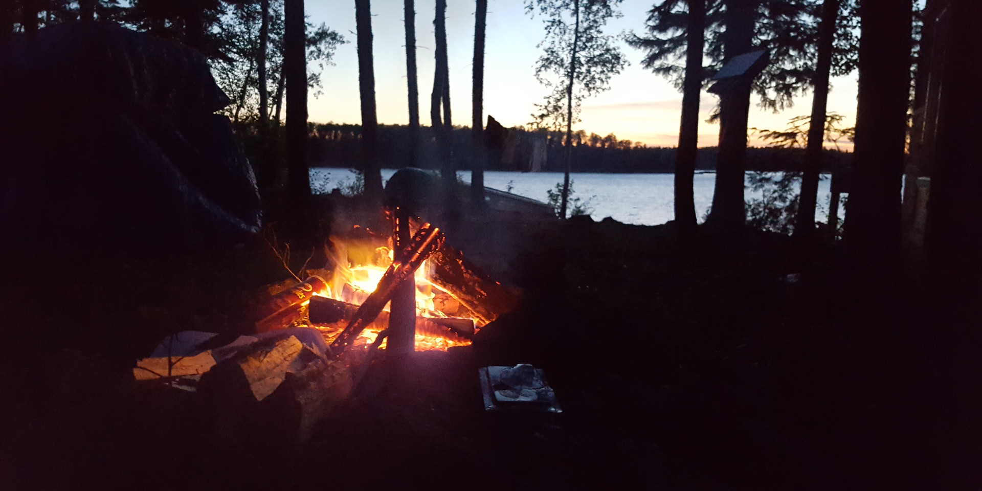 Fire time @ Ogoki Lake