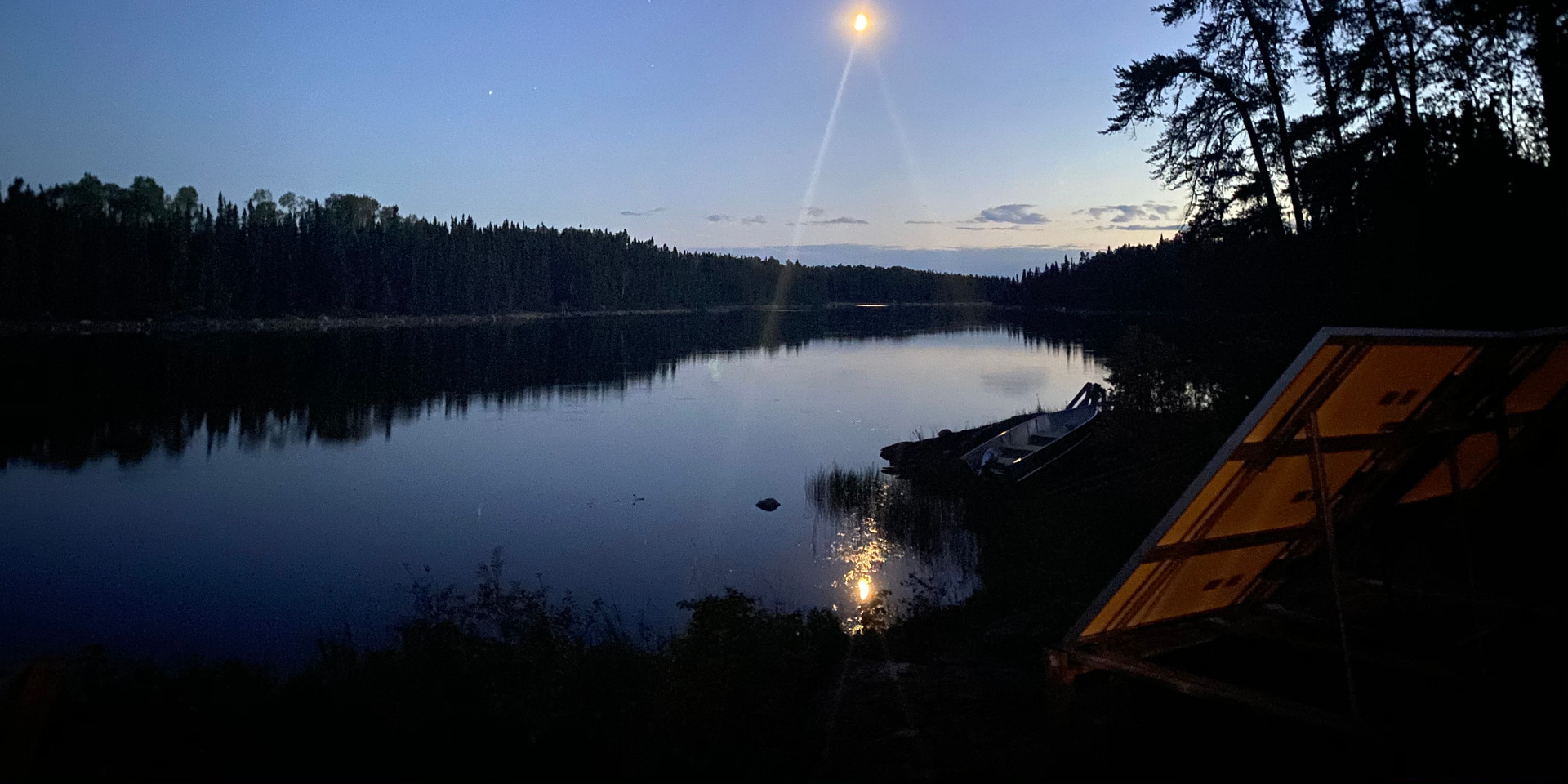 Views for days from the firepit at the Root Bay cabin