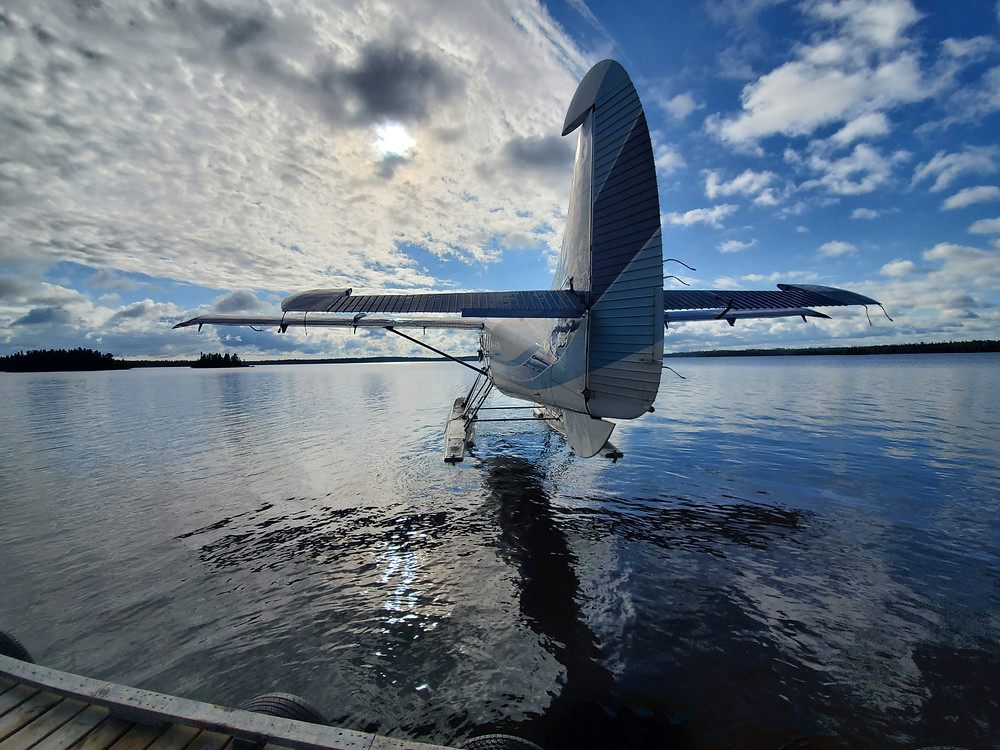 Float plane on a fly in fishing trip in Northern Ontario, Canada