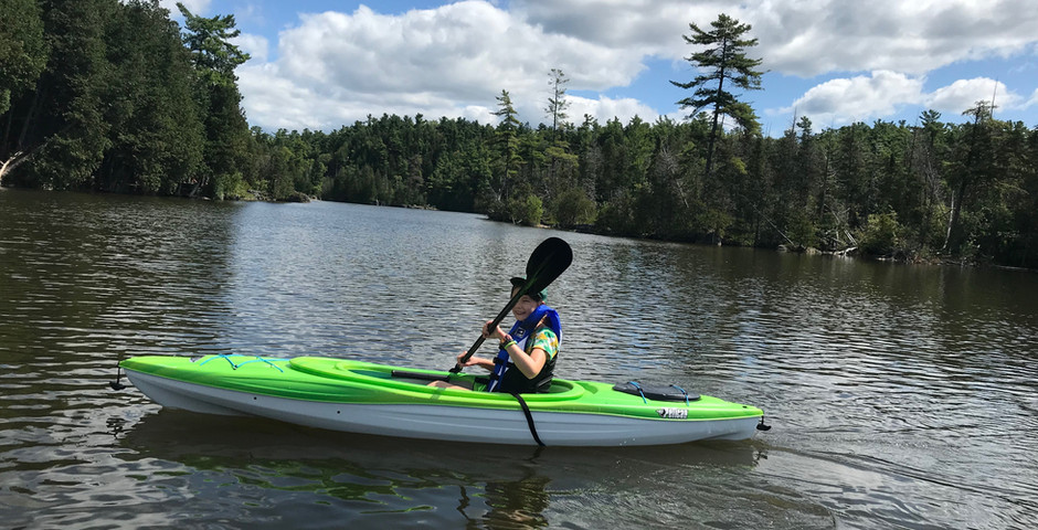 First paddle with the new kayaks, Rockwood Conservation area