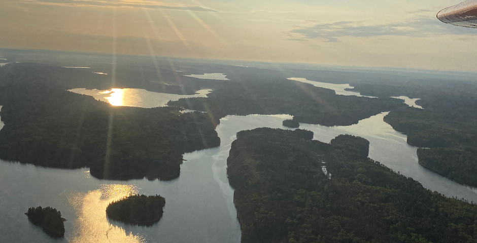 View from the Otter on our flight to Root Bay with Slate Falls Ouposts