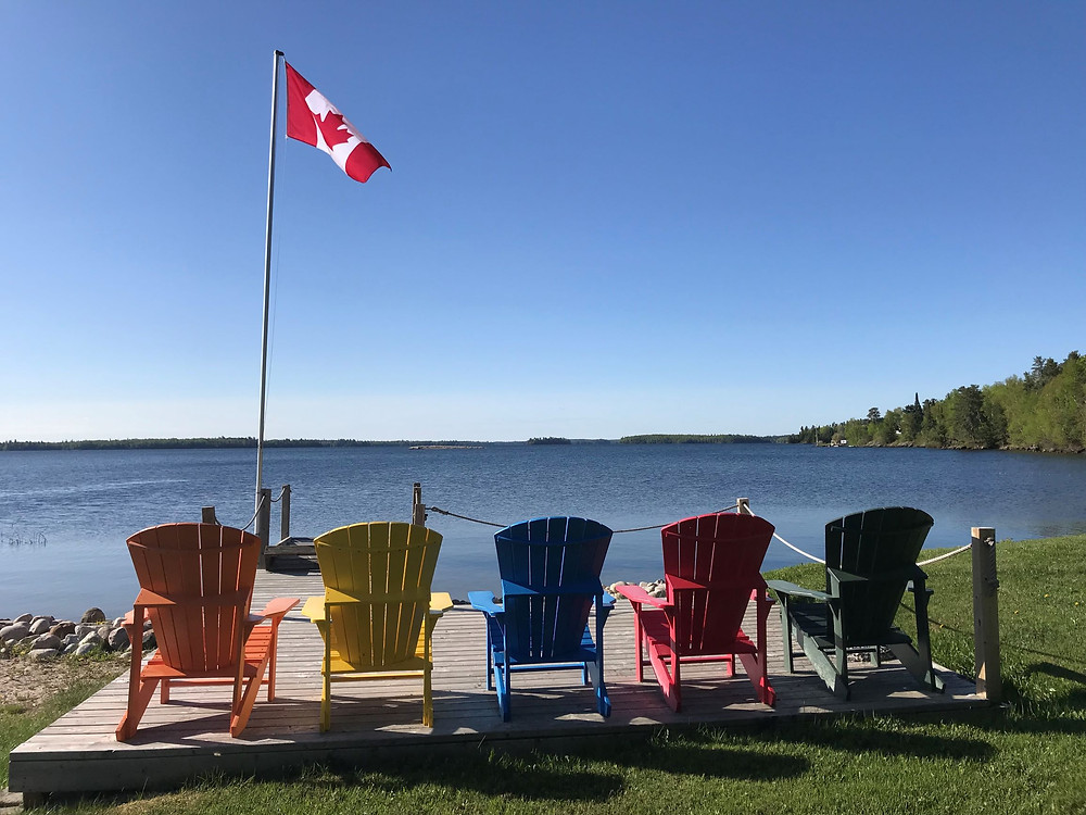 Beautiful waterfront view in Northern Ontario, Canada