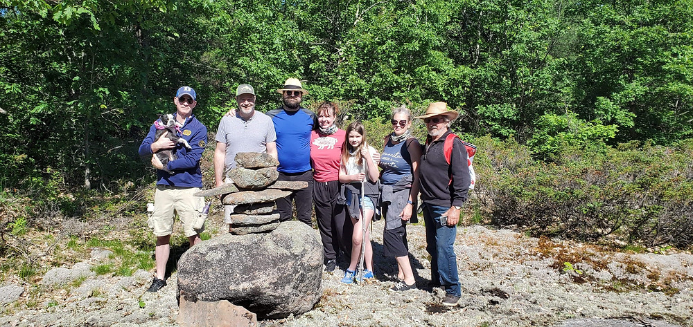 Family hike in the Muskokas