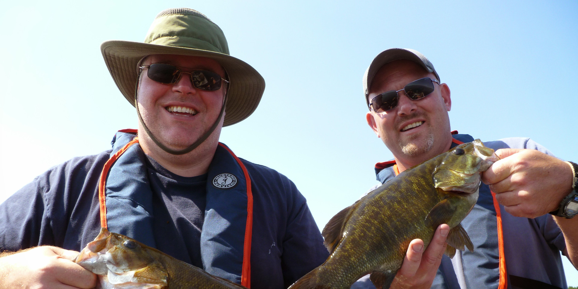 A big smallie double header from Brennan Harbour Lodge