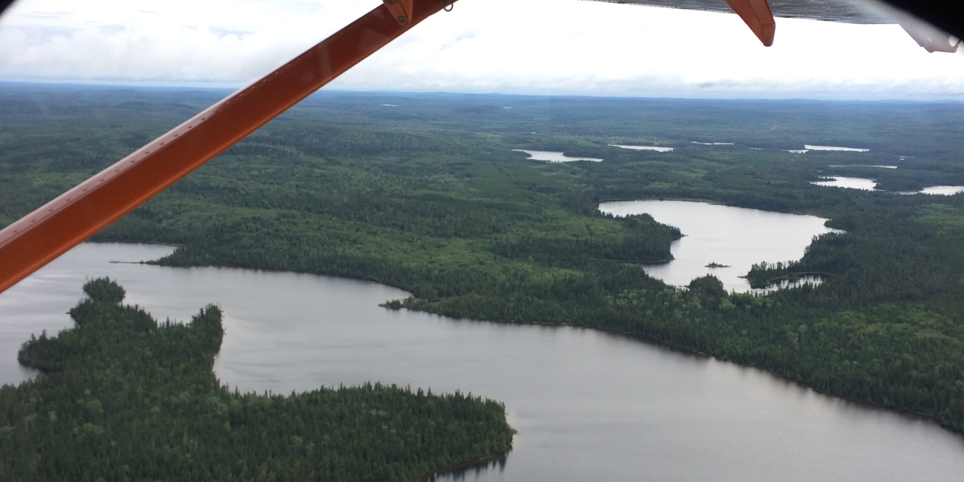 The view from the Turbo Otter flying over Algoma