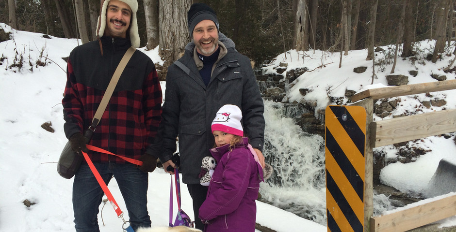 Bruce trail hike with Uncle Dan, Bear and Nugget
