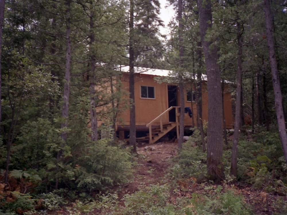 Outpost cabin for fly in fishing in Northern Ontario, Canada
