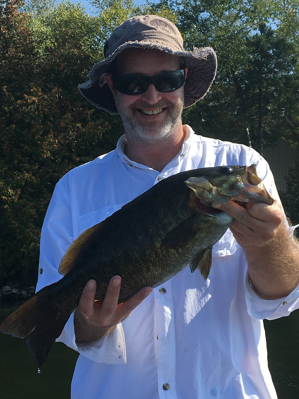 Nice bass caught on Balsam Lake in the Kawartha Region of Ontario, Canada