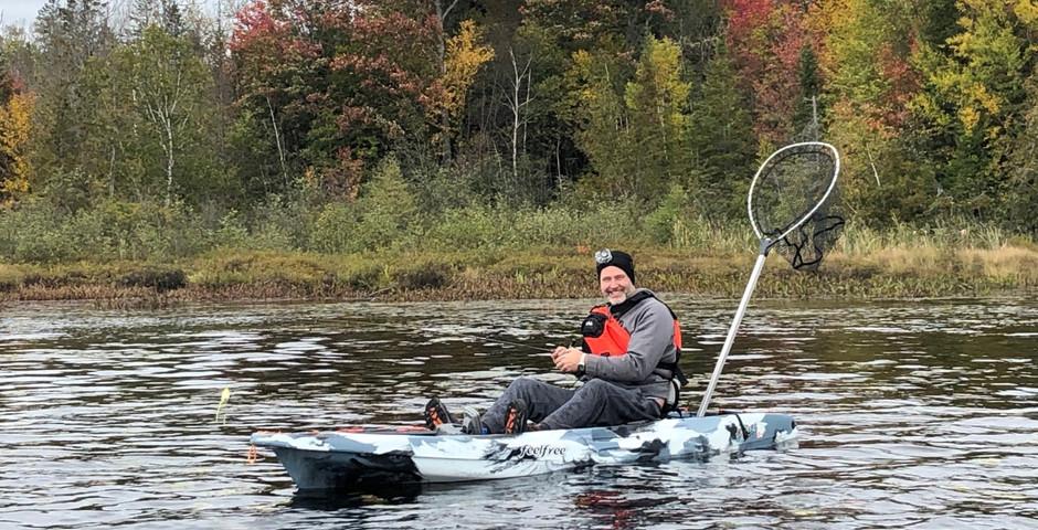 Yak fishing for bass in Haliburton, Ontario