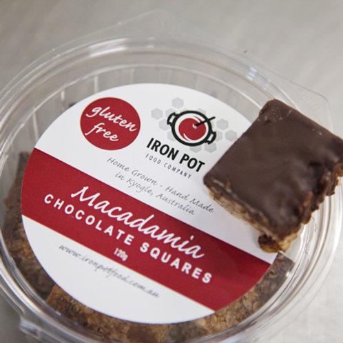 Chocolate Macadamia Squares