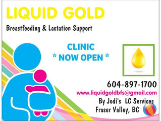 Liquid Gold Breastfeeding and Lactation Support coming to Cheam Midwifery Abbotsford!!