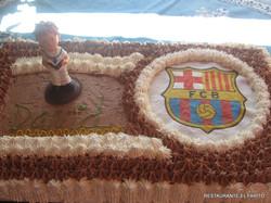Tarta Barcelona FC.
