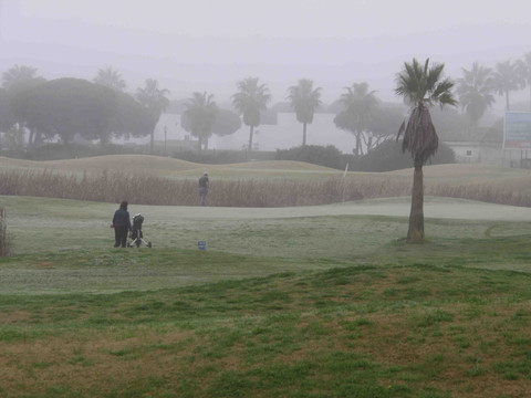 Golf in the mist