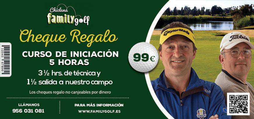 Cheque regalo curso de golf Family Golf Park Chiclana