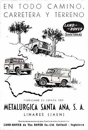 Folleto Land Rover Santana