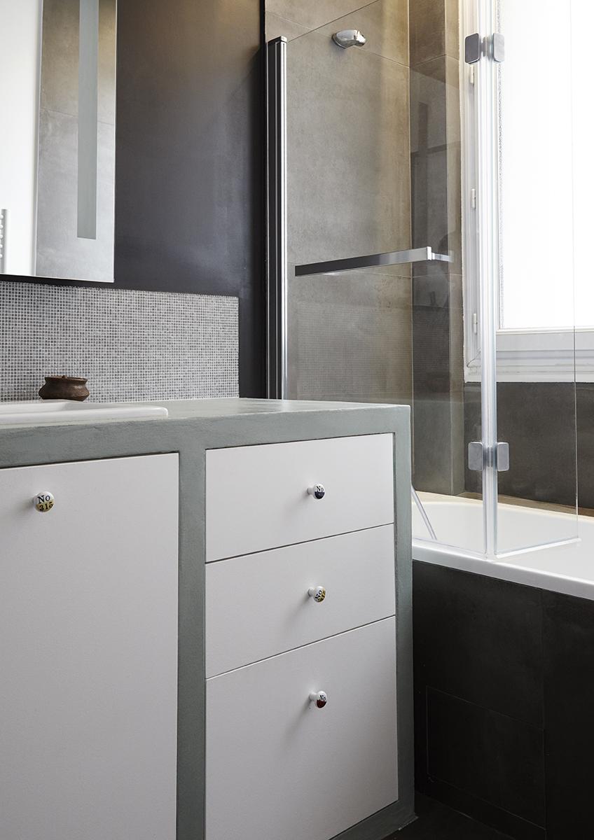 Appartement S-Salle de bain-meuble sur mésure