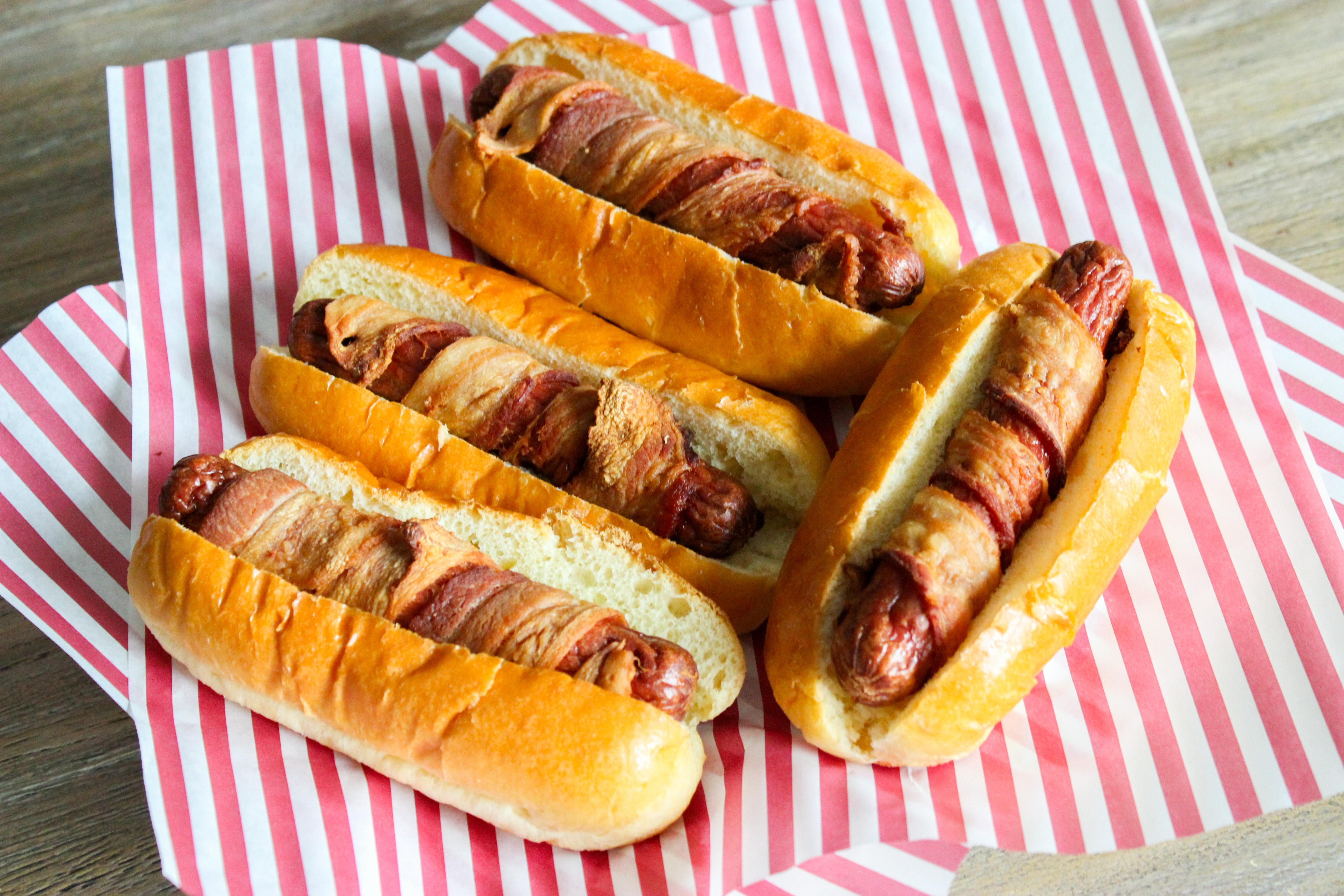 bacon dog fried