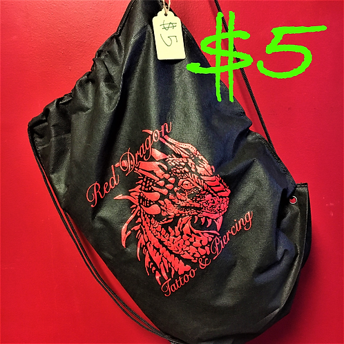 Red Dragon Drawstring Bag
