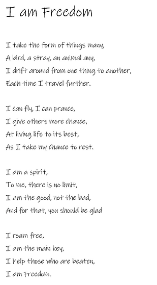 I Am Freedom Poem