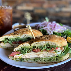 CHICKEN BASIL PESTO SANDWICH
