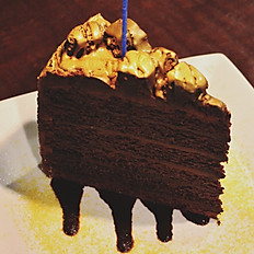 BLACK GOLD BIRTHDAY CAKE