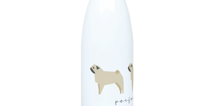 Trio Steel Water Bottle - Perfectly Pug