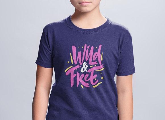Girls Neon Wild & Free T-shirt