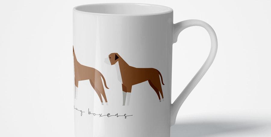 Trio Porcelain Mug - Bounding Boxers