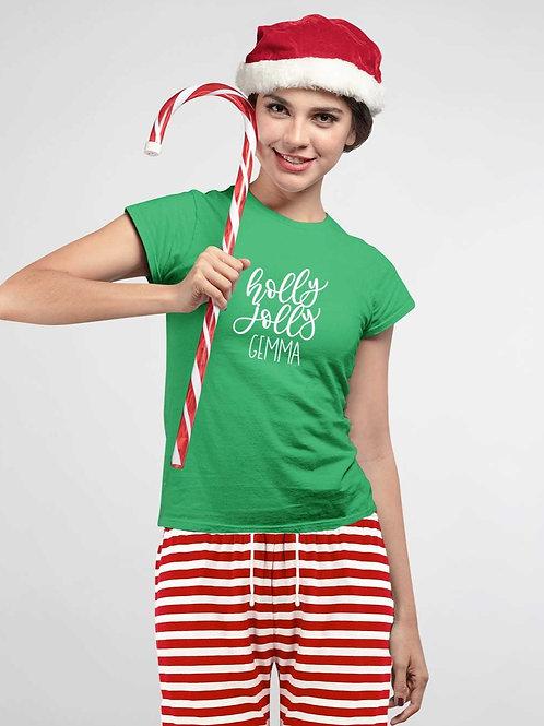 Women's Christmas Holly Jolly PJs