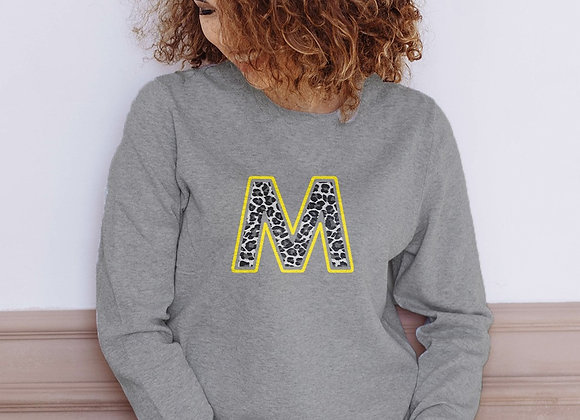 Leopard print Initial Sweatshirt