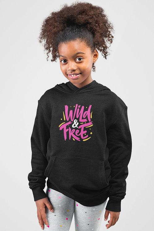 Girls Neon Wild & Free Hoodie