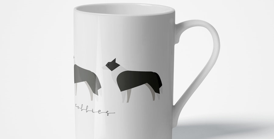 Trio Porcelain Mug - Cool Collies