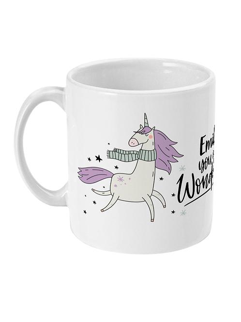 Magical Unicorn Personalised Mug for Girls