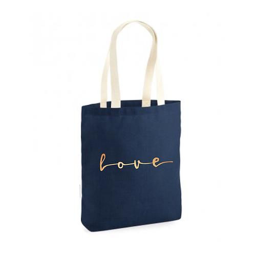 Love Script Tote Bag