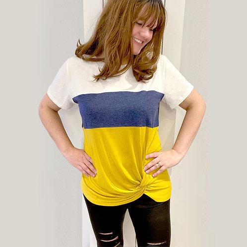 Colour Block Twist T-shirt