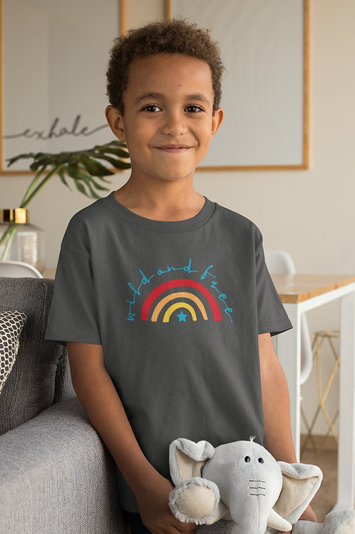 Boys Wild & Free Rainbow T-shirt
