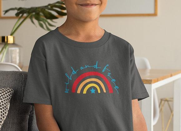 Boys Wild & Free Rainbow T-shirt